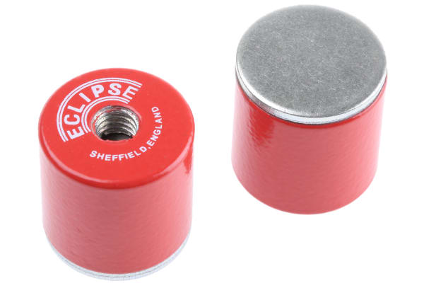 Product image for Eclipse 20.5mm Threaded Hole Aluminium Alloy Pot Magnet, 4kg Pull