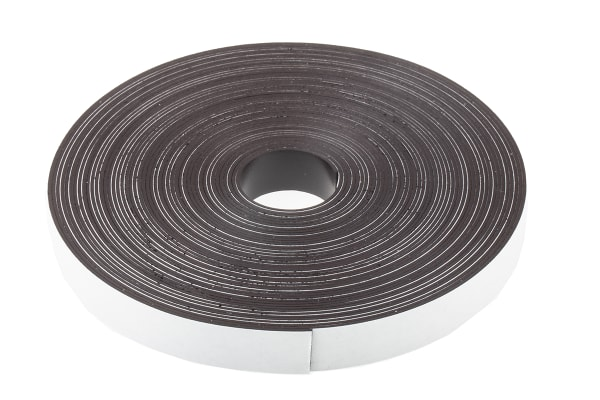 Product image for 10m Magnetic Tape, Adhesive Back, 0.75mm Thickness