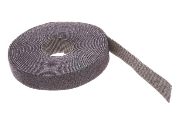 Product image for TY-GRIP(TM) BLACK ROLLED HOOK& LOOP,4.6M