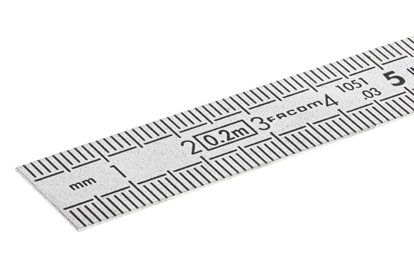 Product image for STAINLESS STEEL FLEXIBLE RULE 2 SIDES