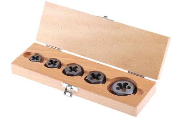 Product image for 5 piece UNF die nut set,1/4in-1/2in