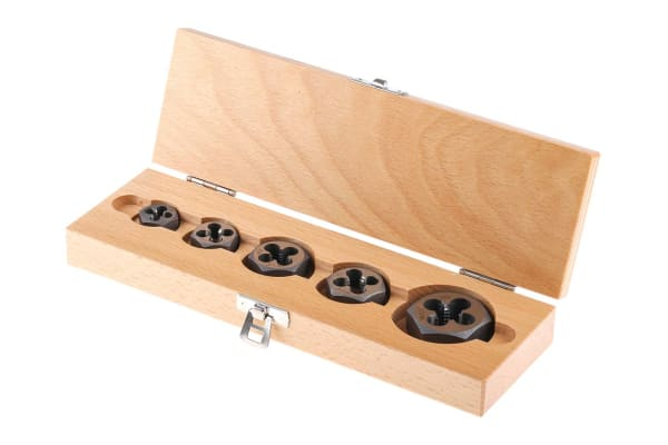 Product image for 5 piece UNC die nut set,1/4in-1/2in