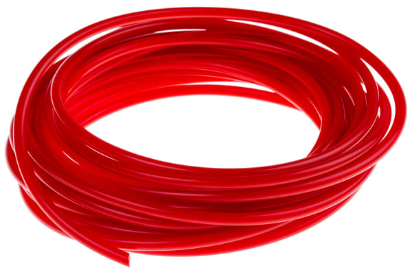 Product image for Red polyurethane belt,5m L x 4mm dia