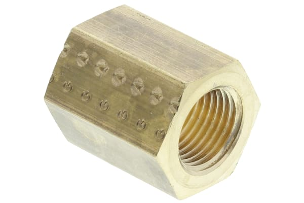 Product image for BRASS FEMALE SLEEVE,1/8IN BSPP F-F