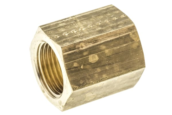 Product image for BRASS FEMALE SLEEVE,3/8IN BSPP F-F