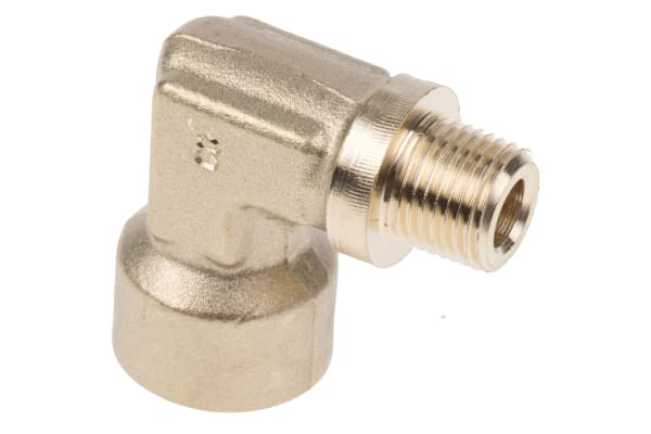 Product image for BRASS ELBOW,1/8 BSPT M X 1/8IN BSPP F