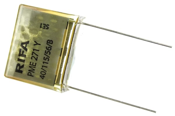 Product image for PME271Y wire ended cap,100nF 250Vac