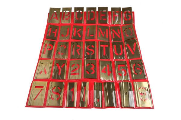 "Product image for Interlocking stencilset,2"" alphanumeric"