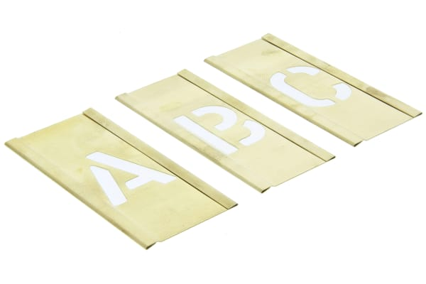 Product image for Interlocking brass stencilset,1in A to Z