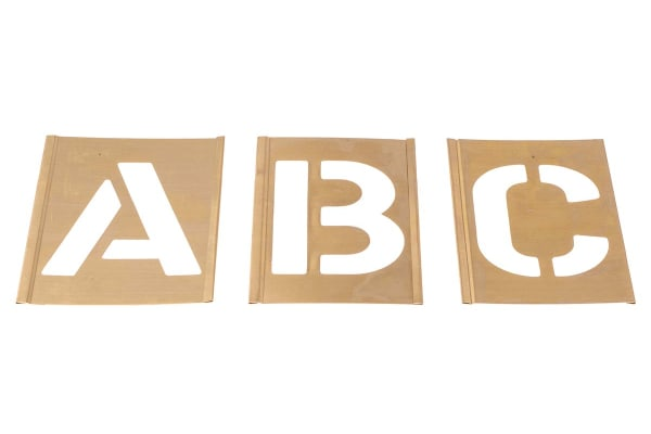 Product image for Interlocking brass stencilset,3in A to Z
