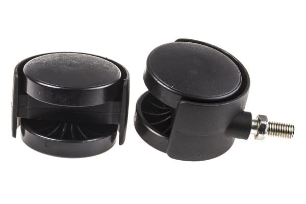 Product image for 2 wheel nylon castor,50 dia,M8 stud