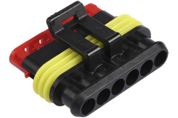 Product image for Superseal 1.5 6 way plug housing