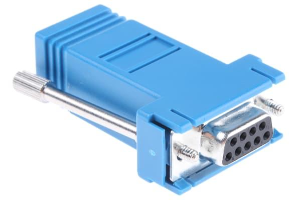 Product image for Blue 9way D socket w/RJ45 socket adaptor