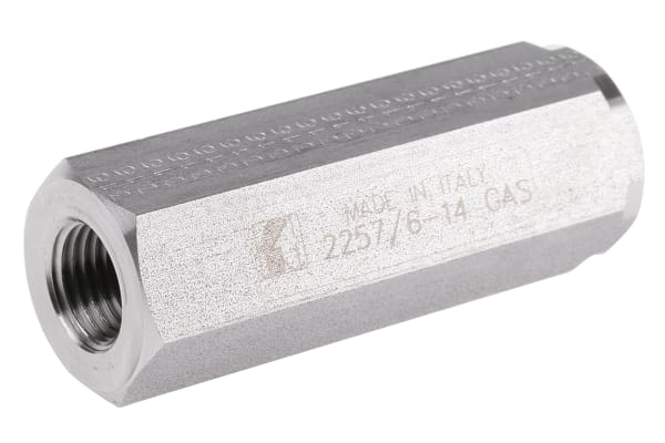 Product image for 1/4in BSP s/steel inline nonreturn valve