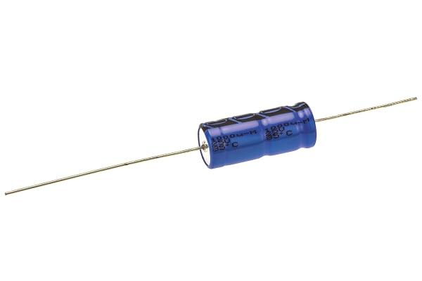 Product image for 021ASM MIN AXIAL AL ELECT CAP,1000UF 25V