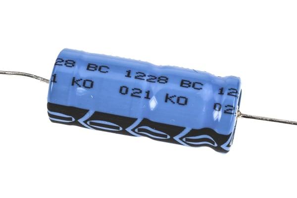 Product image for 021ASM min axial Al elect cap,470uF 63V