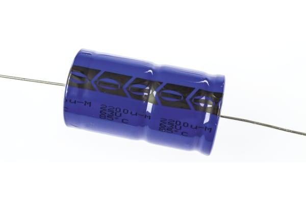 Product image for 021ASM min axial Al elect cap,2200uF 63V
