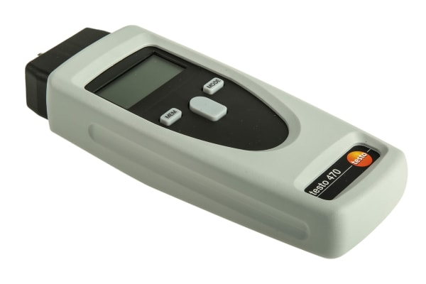 Product image for Testo 0563 0470 Tachometer, Best Accuracy ±0.02 % Contact, Optical LCD 99999rpm