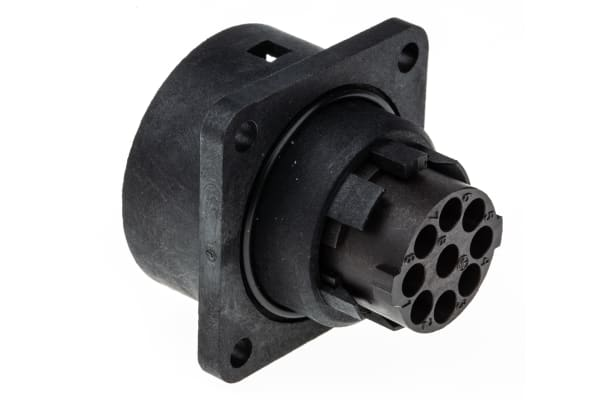 Product image for C16-3 8P+E chassis mount socket,12A