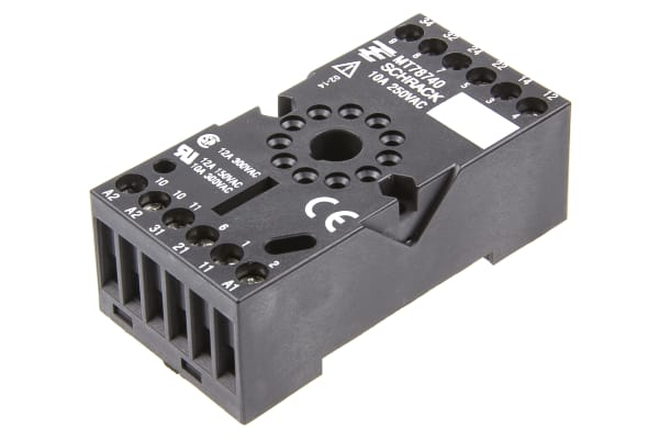 Product image for 11pin DIN & surface socket for MT3 relay