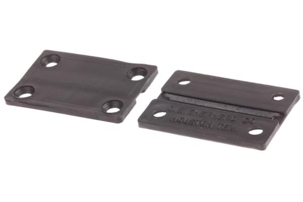 Product image for BLACK PLASTICFLEX HINGE,38.1X25.4X1.59MM