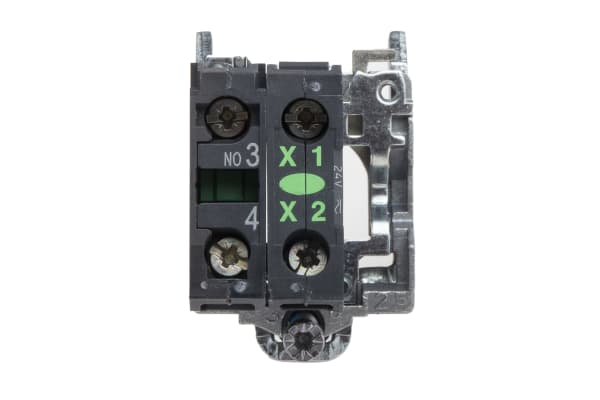 Product image for 1NO green LED body,24Vac/dc