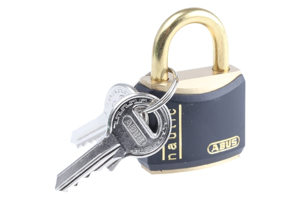 Product image for 3 PIN BRASS VINYL COVERED PADLOCK,30MM