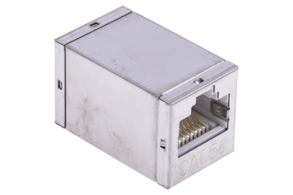 Product image for Cat.5e RJ45 STP socket-socket coupler