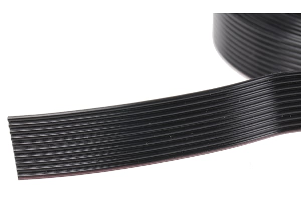 Product image for 10 way high flex 1.27mm ribbon cable,5m