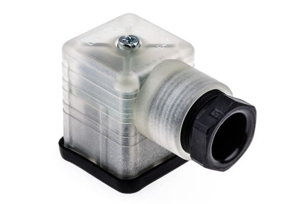 Product image for Hirschmann, GDML 2P+E DIN 43650 A, Female Solenoid Valve Connector, 24 V ac/dc Voltage