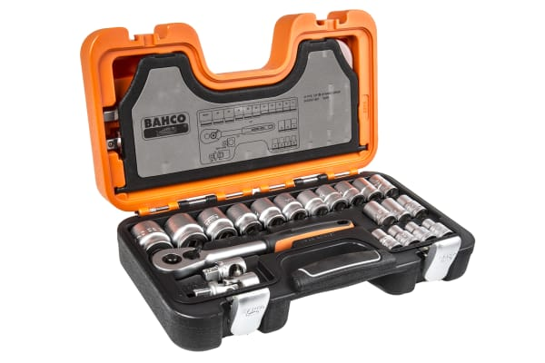 Product image for 24 piece Bahco 1/2in sq drive socket set