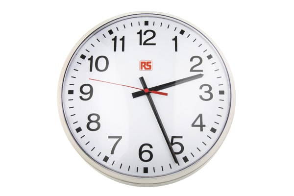 Product image for Plastic lens Al wall clock,305mm dia