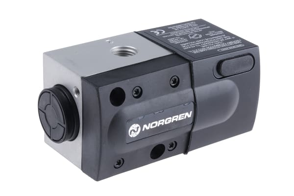 Product image for Norgren 3/2 Pneumatic Control Valve - Solenoid/Spring G 1/4 VP50 Series 24V dc