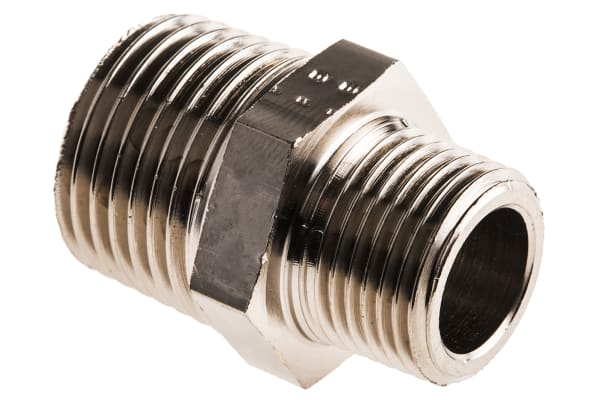 Product image for Male BSPT nipple adaptor,R3/8xR1/2