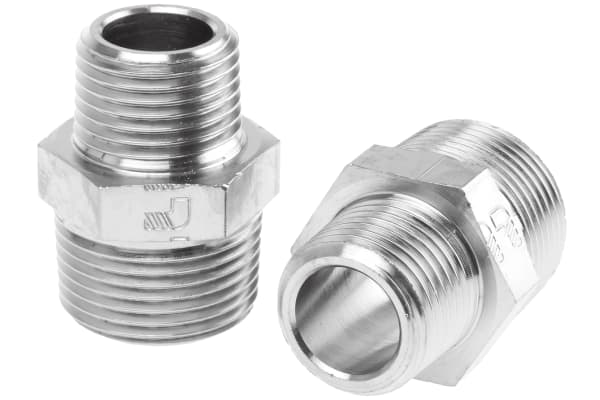 Product image for Male BSPT nipple adaptor,R1/2xR3/4