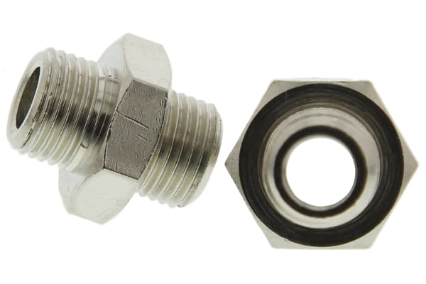 Product image for Male BSPP nipple adaptor,G1/8xG1/8