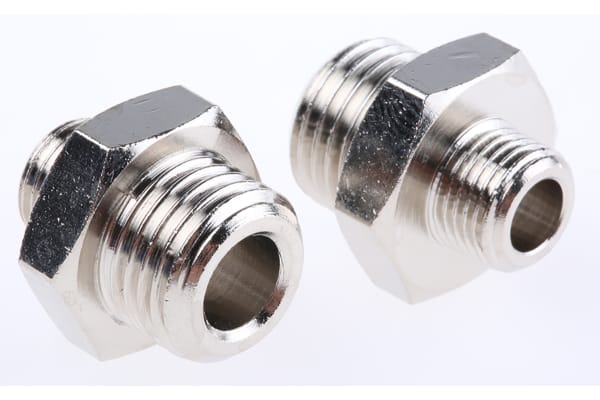 Product image for Male BSPP nipple adaptor,G1/8xG1/4