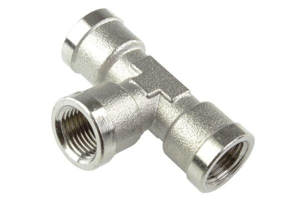 Product image for Female BSPP tee connector,G1/8