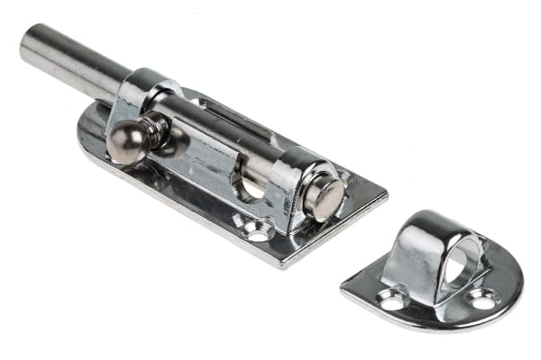 Product image for Chrome plated brass barrel bolt,125mm