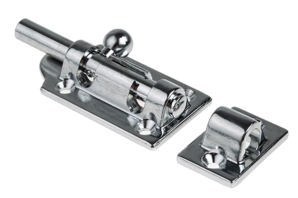 Product image for Chrome plated brass barrel bolt,72mm