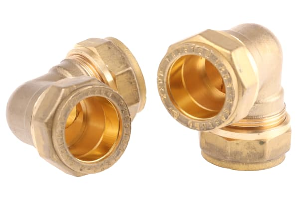 Product image for Copper fitting elbow,22 x 22mm comp