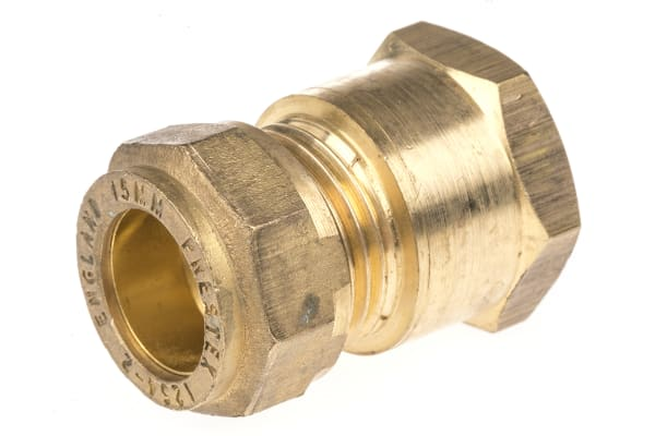 Product image for Straight coupling,15mm compx1/2in BSPP F