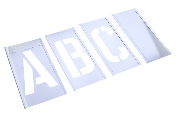 Product image for Interlocking zinc stencil set,4in A to Z