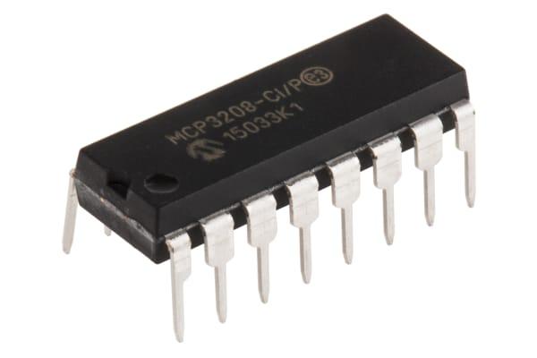 Product image for 12 bit A-D converter,MCP3208-CI/P DIP16