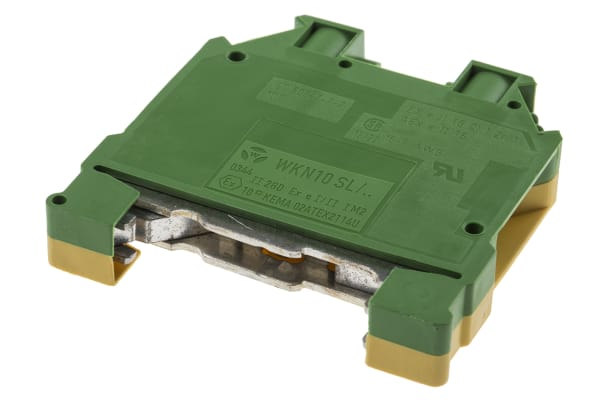 Product image for High current DIN rail earth terminal