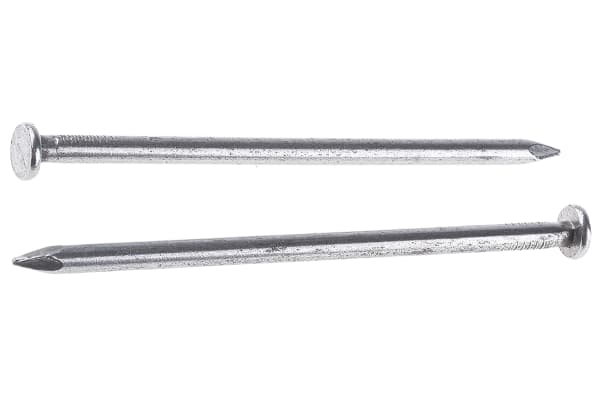 Product image for Bright steel round head nail,4.5x100mm