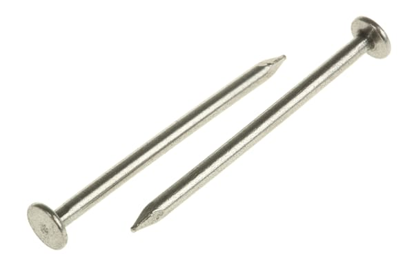 Product image for Bright steel round head nail,2.36x40mm