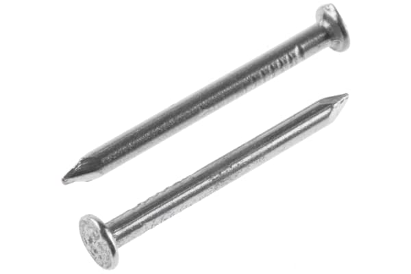 Product image for Bright steel round head nail,1.8x25mm