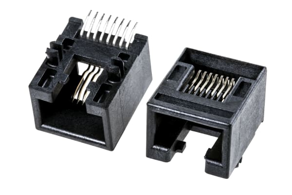 Product image for 8/8 WAY PCB MOUNT SMT R/A RJ SOCKET,1.5A