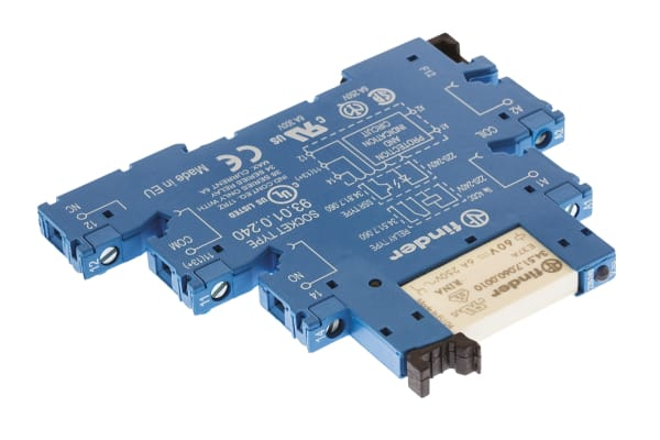 Product image for SPDT relay interface,6A 230Vac coil